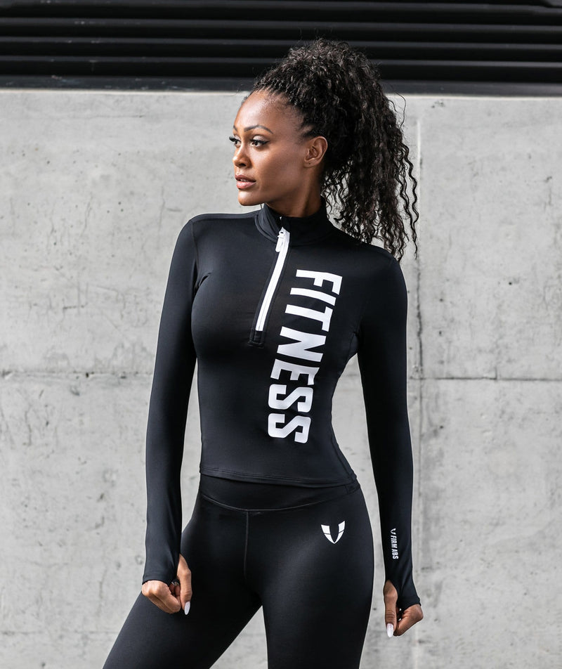 Stylish Zip Long Sleeve Shirt - Firm Abs Fitness