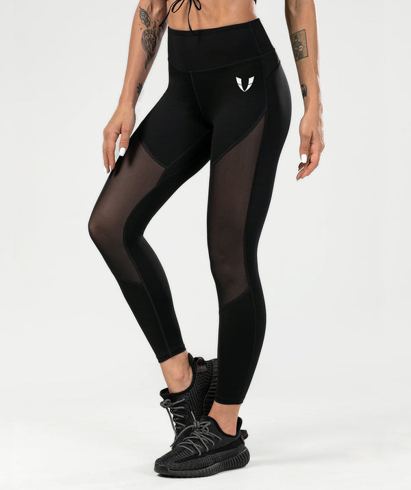 Mesh Training Leggings - Black - Firm Abs Fitness