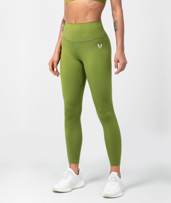 Essential Leggings - Grasshopper Green - Firm Abs Fitness