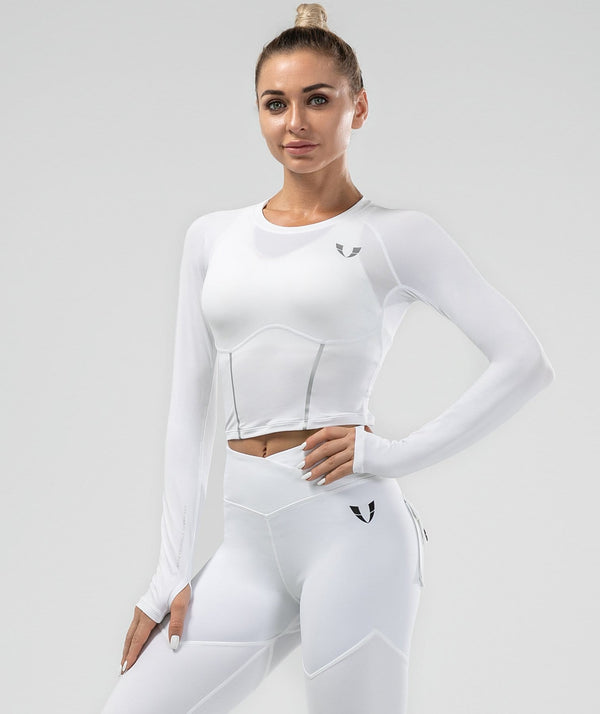 Shaping Long Sleeve - White - Firm Abs Fitness