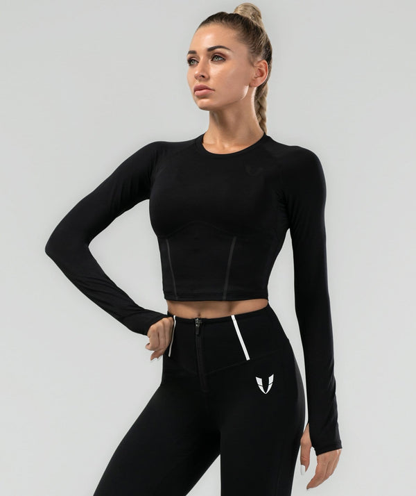 Shaping Long Sleeve - Black - Firm Abs Fitness