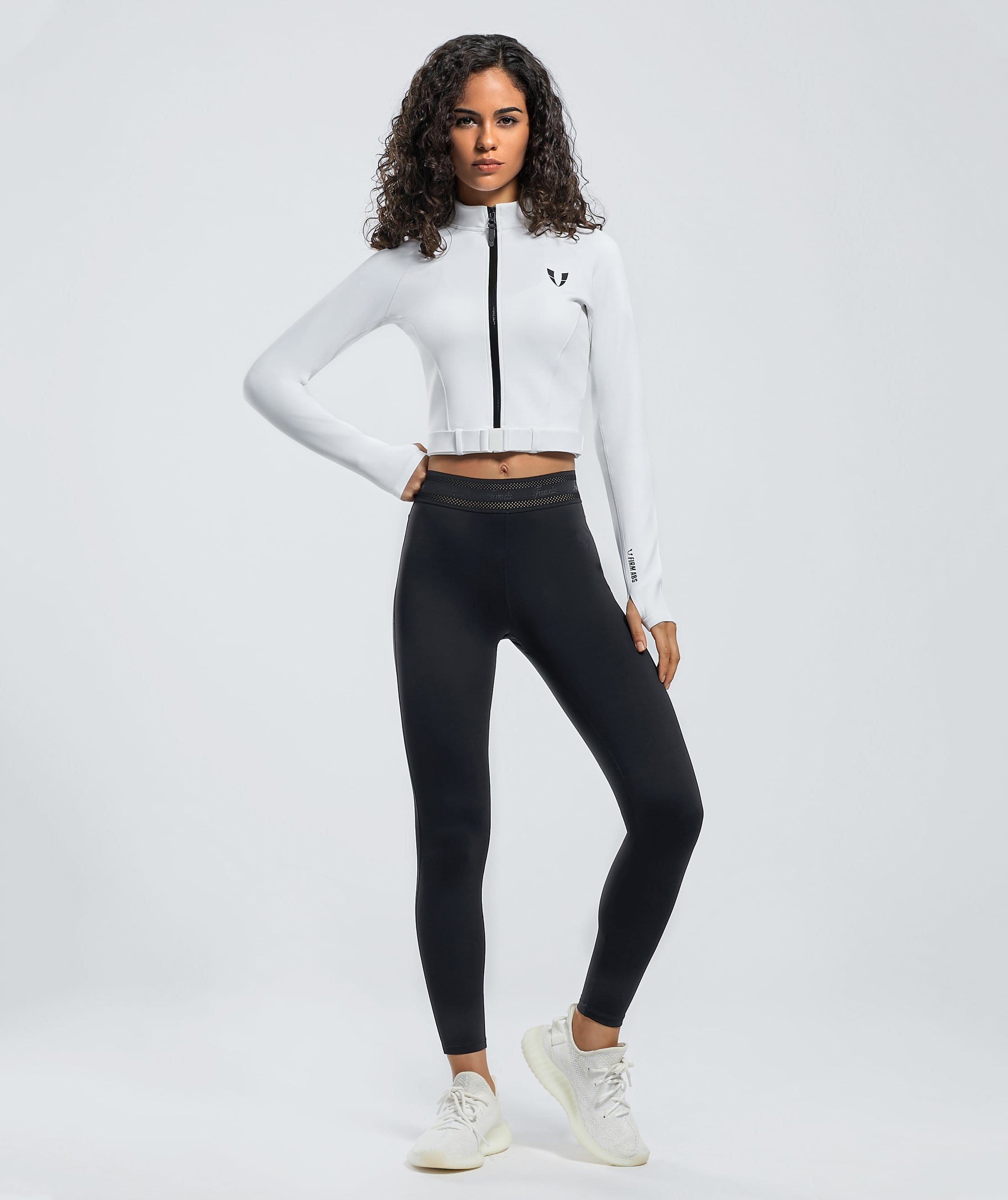 Challenge Jacket - White - Firm Abs Fitness
