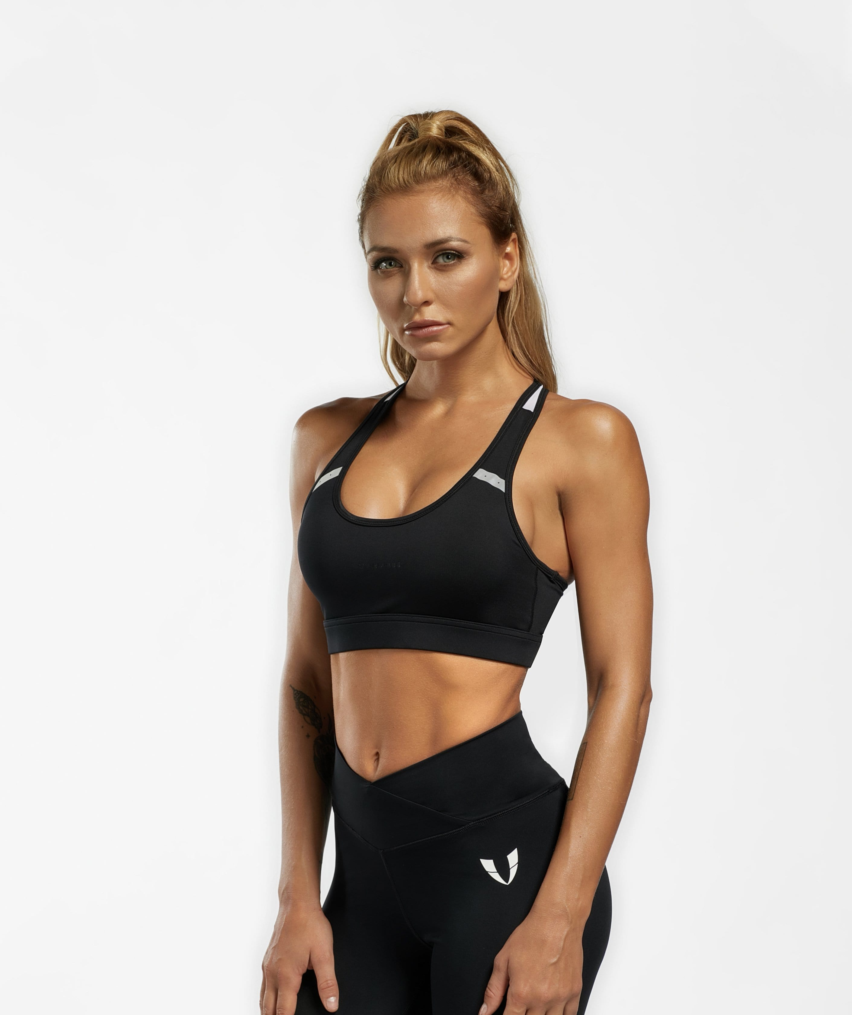 Basic Sports Bra - Black - Firm Abs Fitness