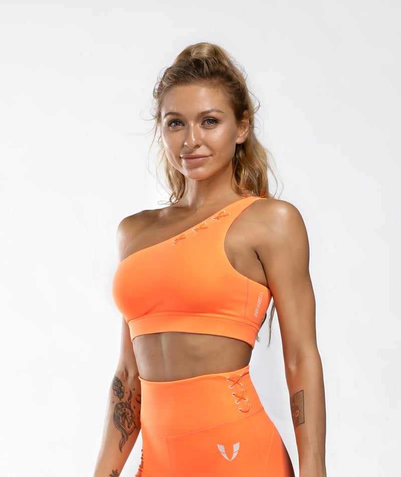 Honeypeach One-Shoulder Bra - Firm Abs Fitness