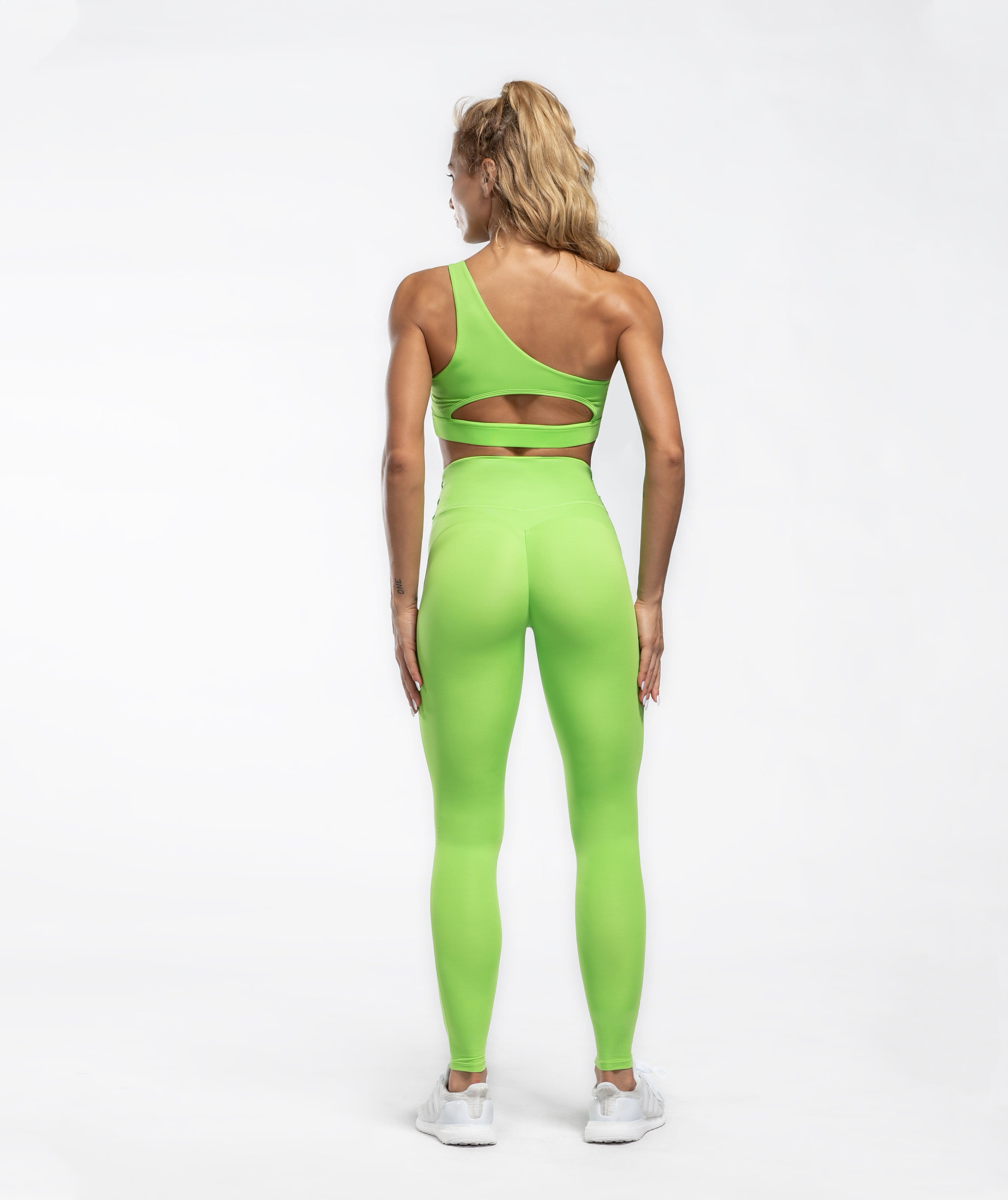 Honeypeach Sculpt Leggings - Green - Firm Abs Fitness
