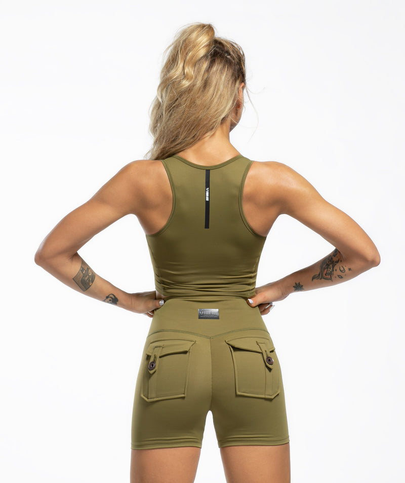 CARGO V WAIST SHORTS - Firm Abs Fitness