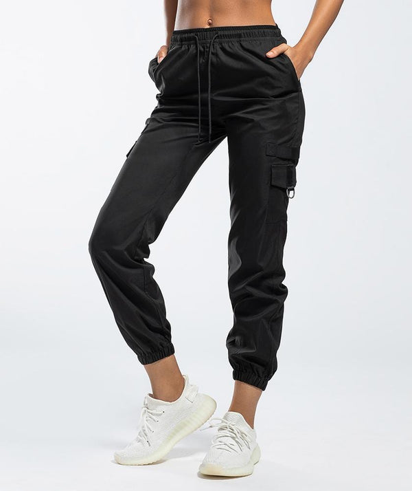 Cargo Joggers - Black - Firm Abs Fitness