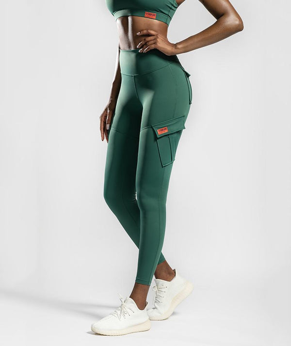 Solo Cargo Leggings - Dark Green - Firm Abs Fitness