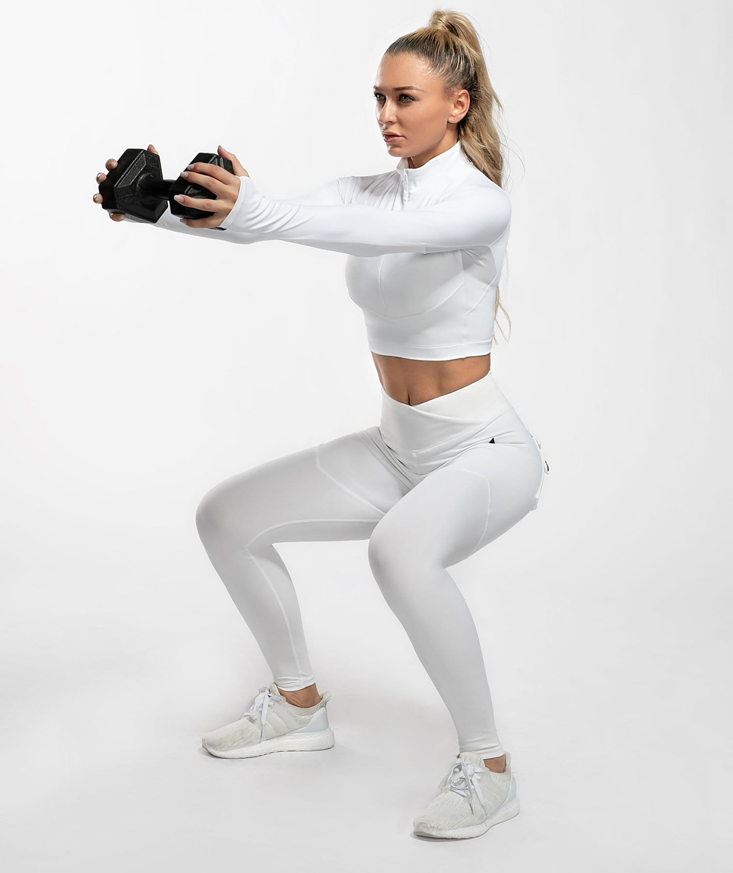 Cargo Power Leggings - White - Firm Abs Fitness