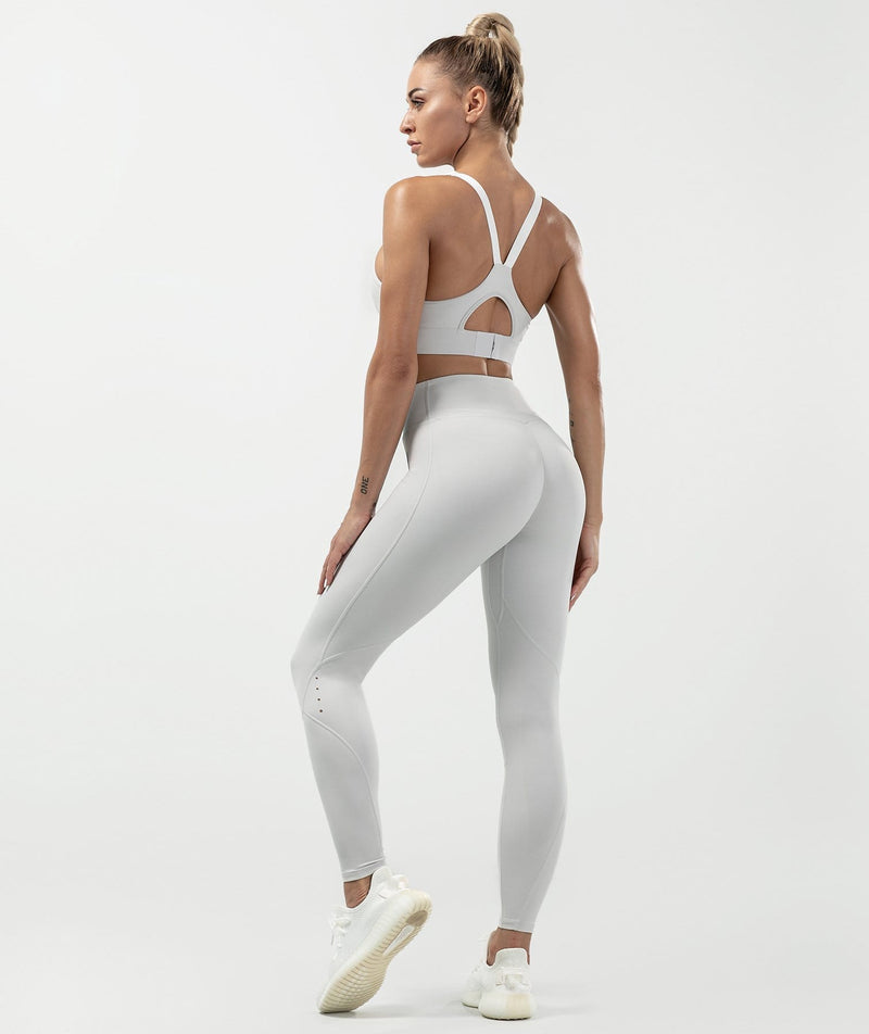 Tummy Control Leggings - Gray - Firm Abs Fitness