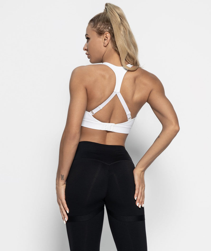 Nexus Training Sports Bra - White - Firm Abs Fitness