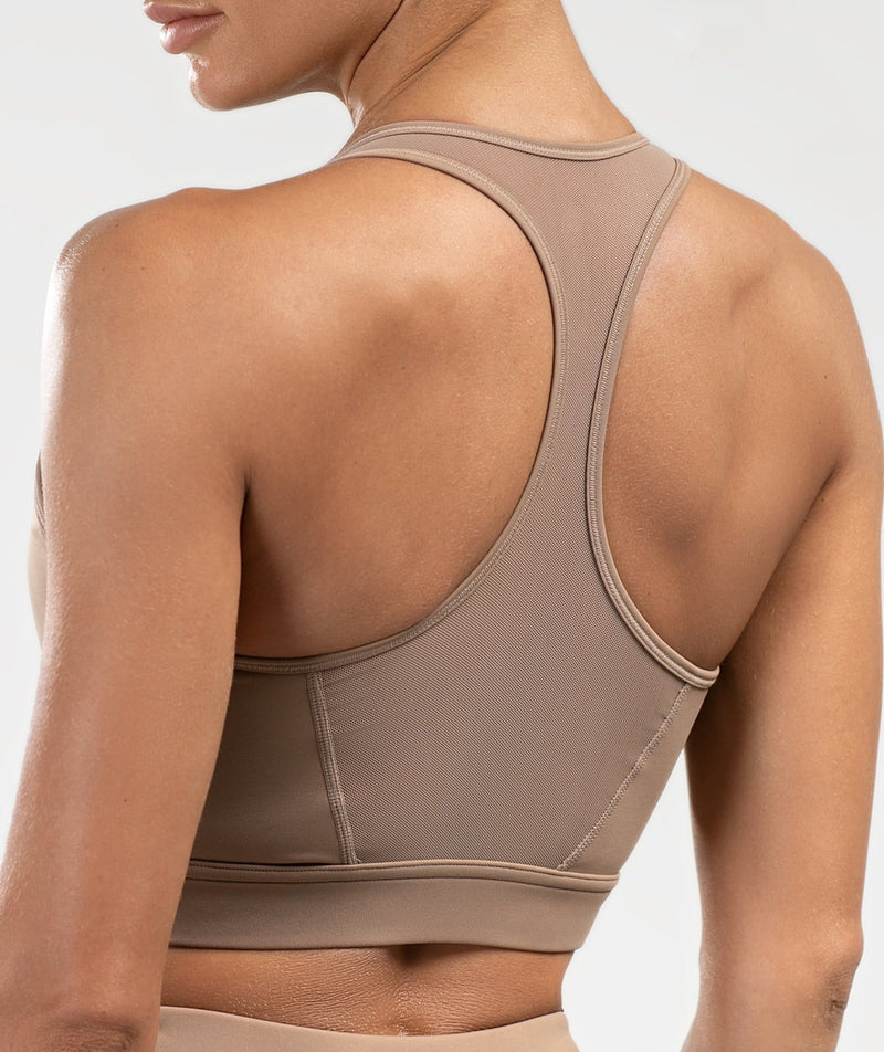 Mesh Back Sports Bra - Firm Abs Fitness