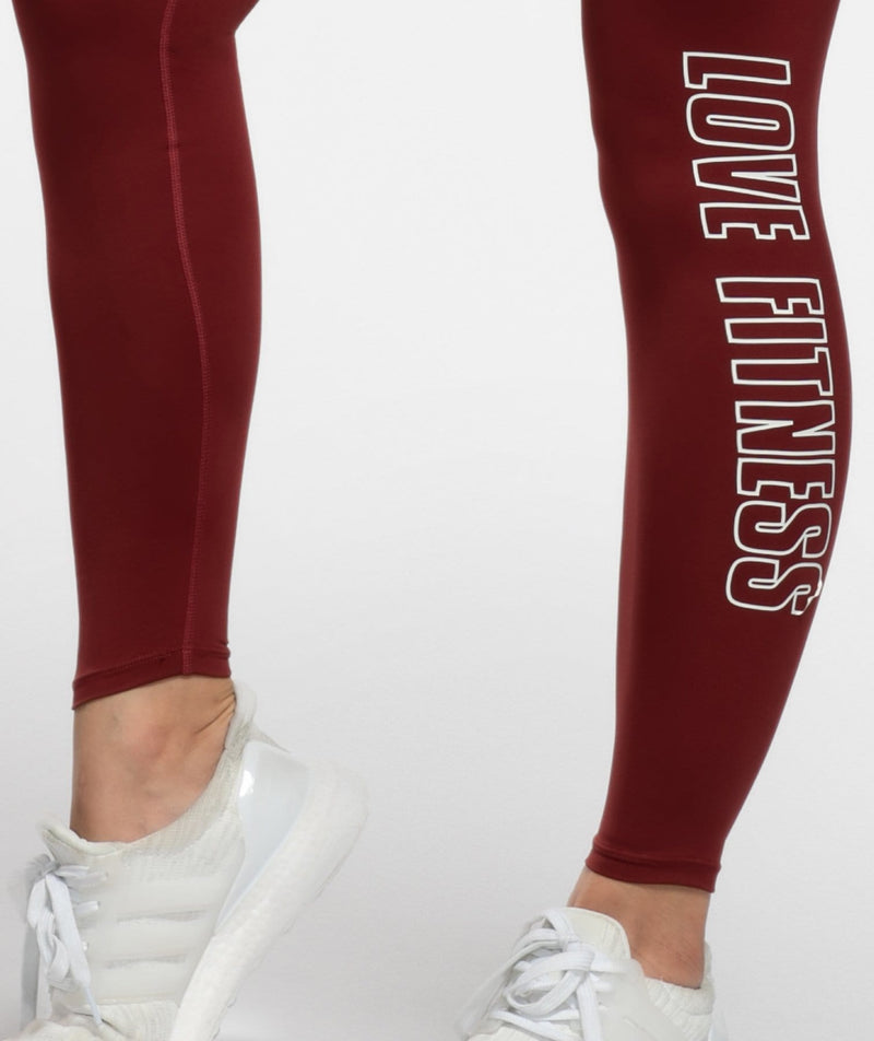 Swift Scrunch Leggings - Red - Firm Abs Fitness