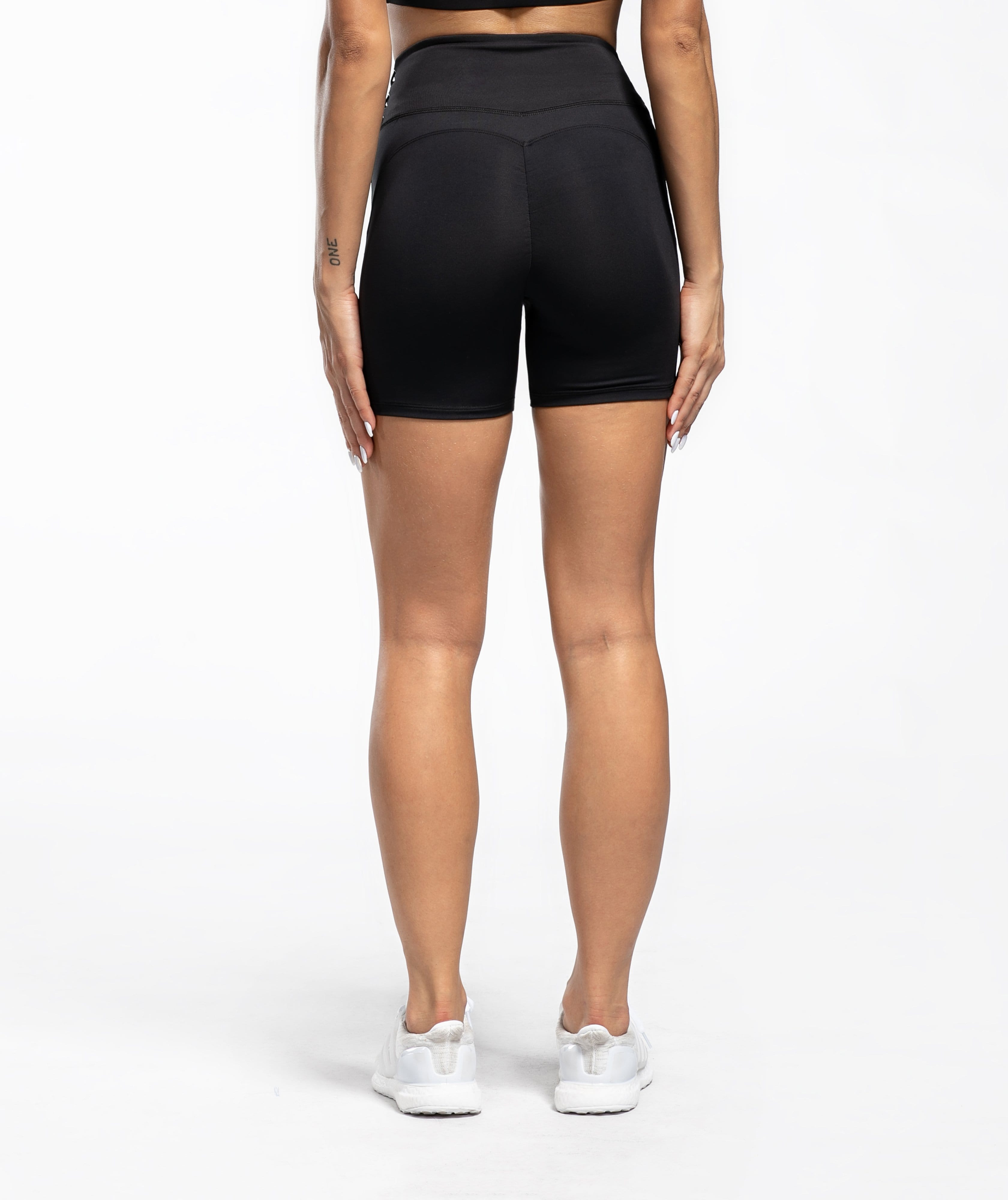 Honeypeach Sculpt Shorts - Black - Firm Abs Fitness