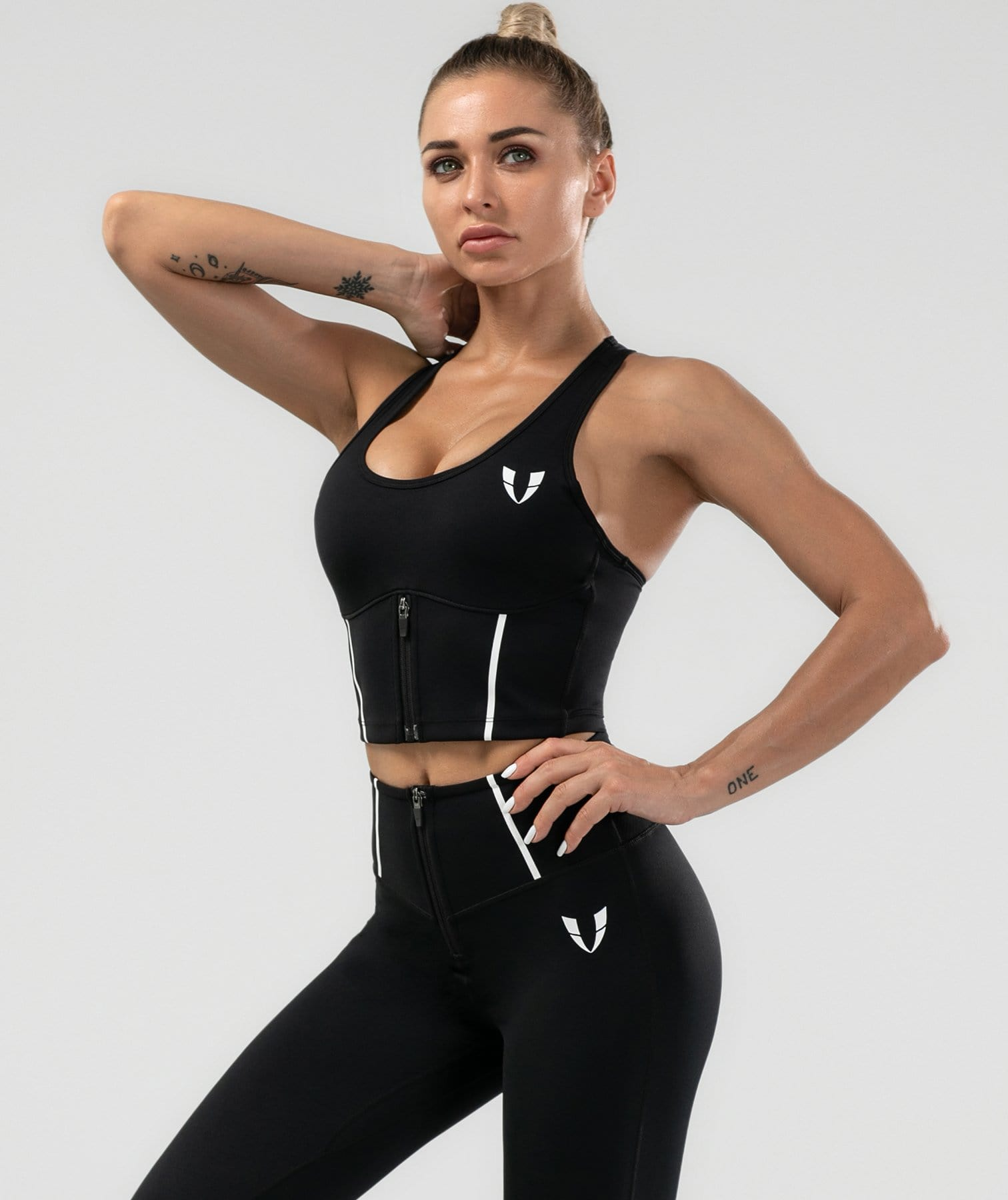 Shaping Tank Top - Black - Firm Abs Fitness