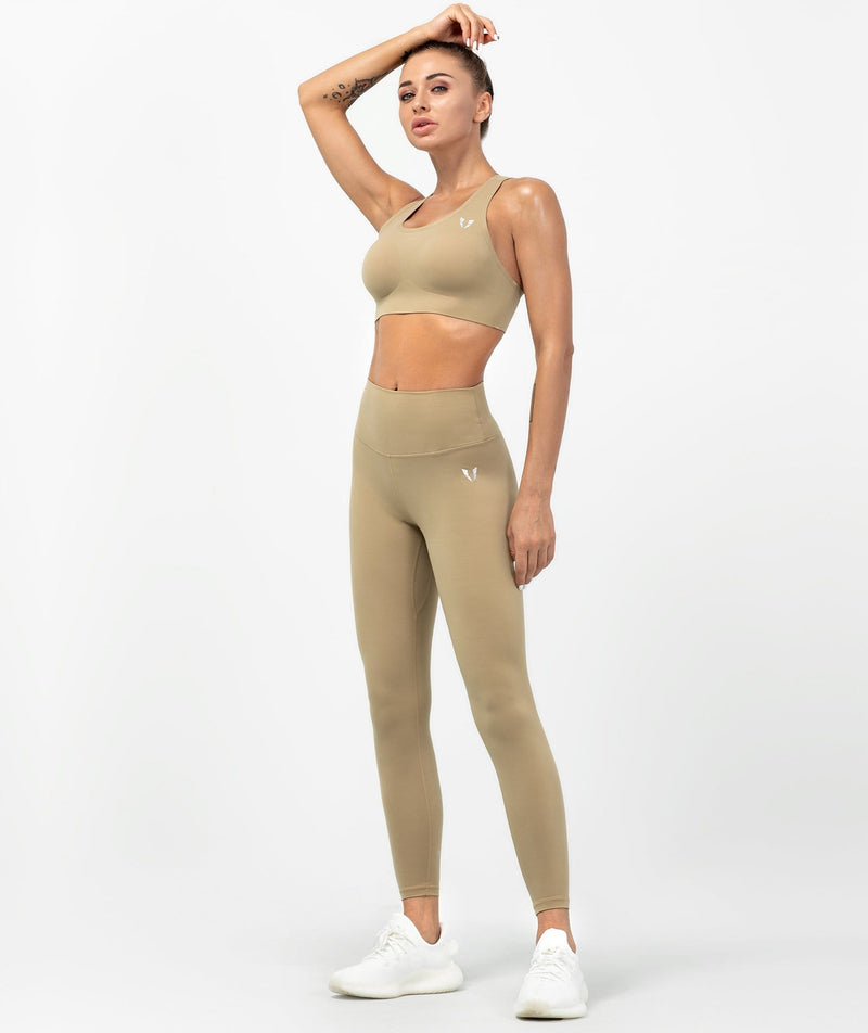 Essential Leggings - Elm Coffee - Firm Abs Fitness