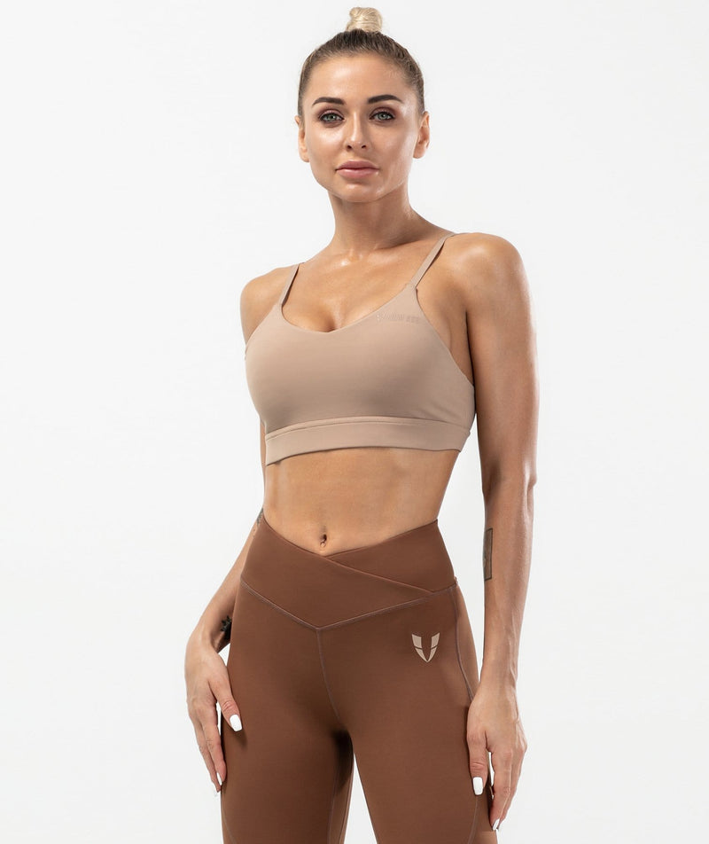 Flex Strappy Sports Bra - Coffee
