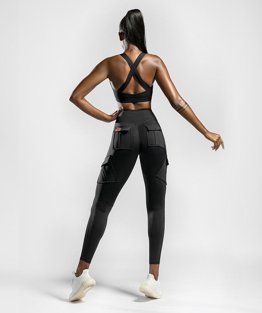 Solo Cargo Leggings - Black - Firm Abs Fitness