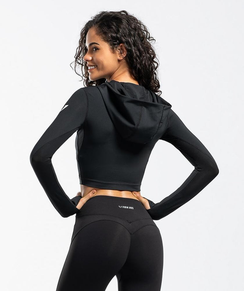 Zip Cropped Hoodies - Firm Abs Fitness