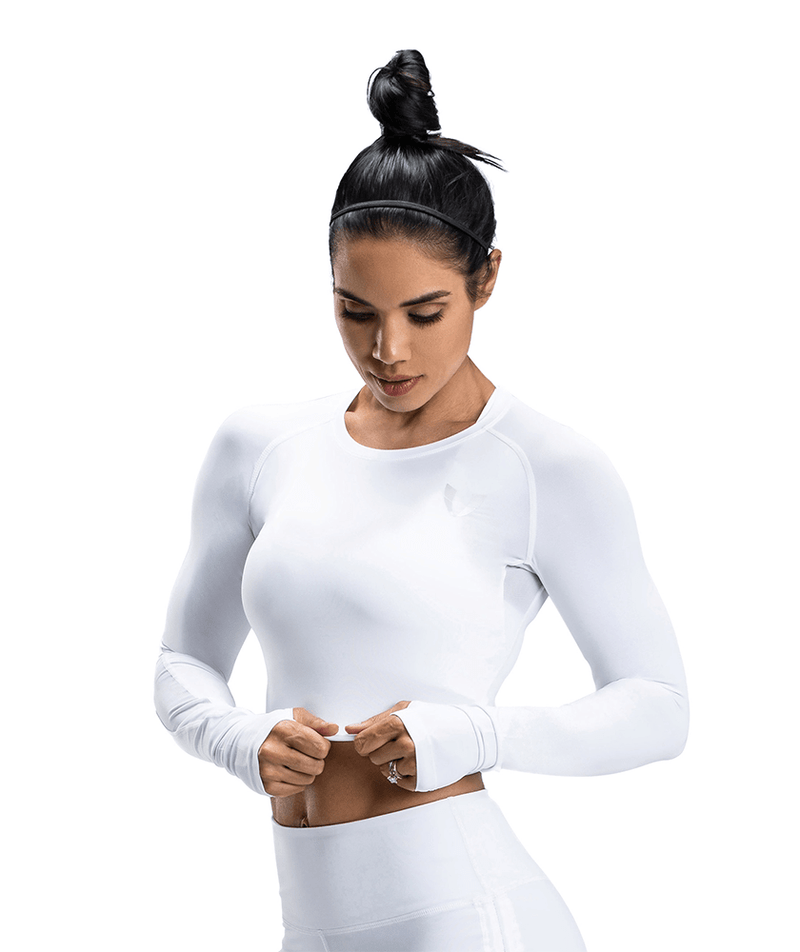Lightweight Workout Cropped Top - Firm Abs Fitness