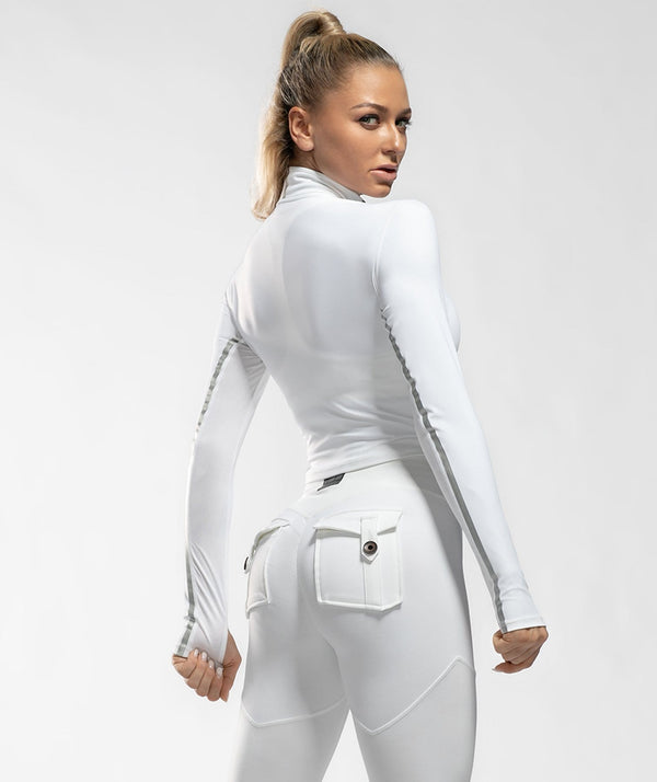 Training Long Sleeve - White - Firm Abs Fitness
