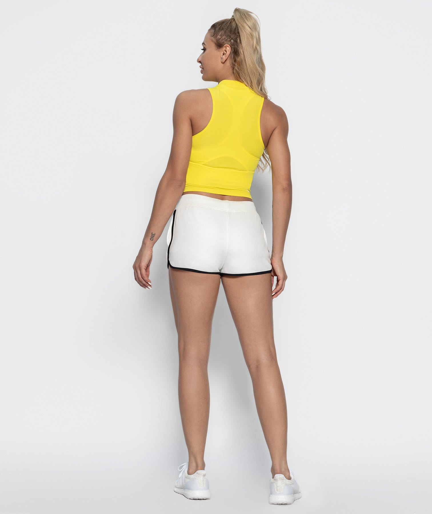 High Neck Vest - Yellow - Firm Abs Fitness