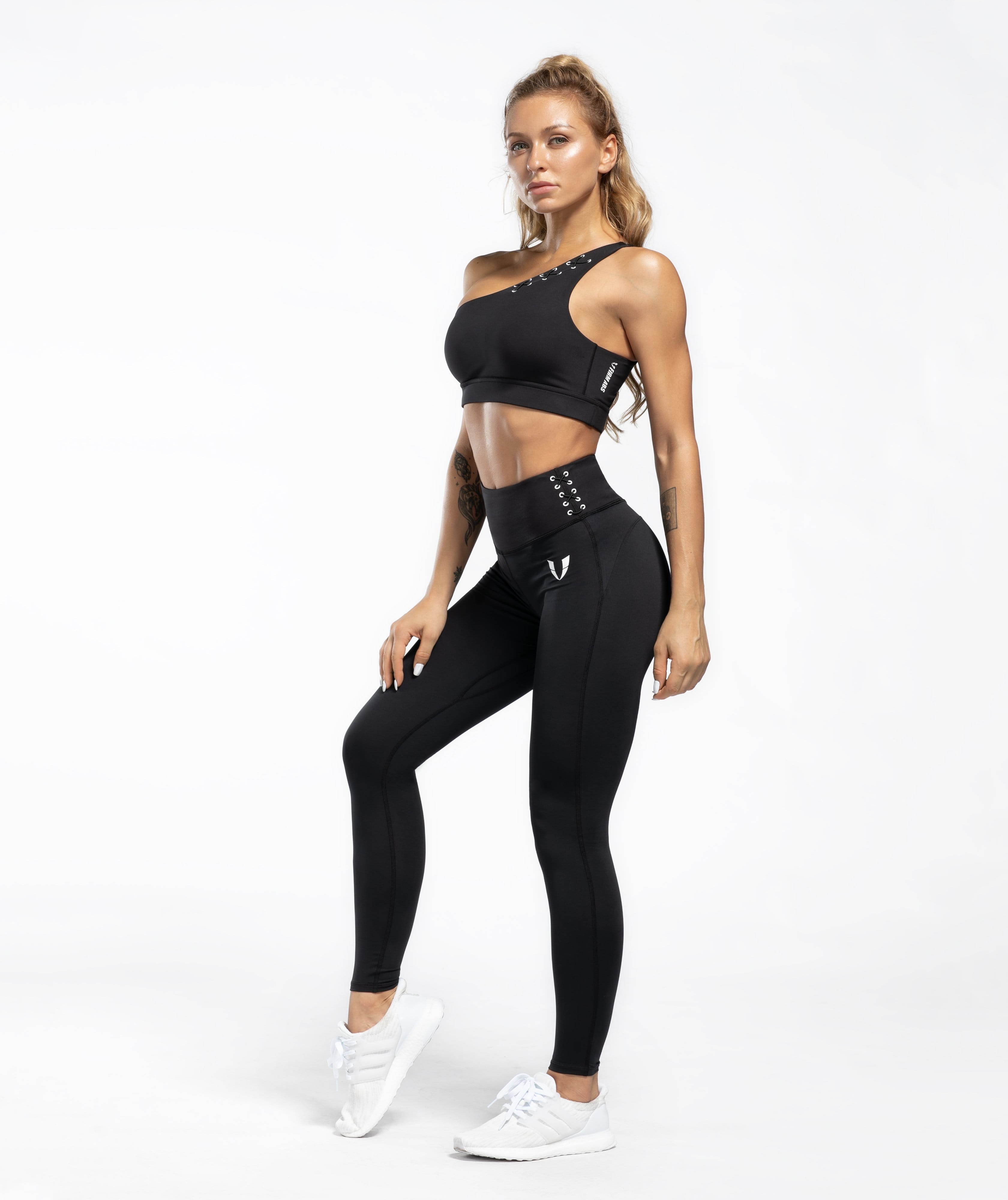 Honeypeach Sculpt Leggings - Black - Firm Abs Fitness