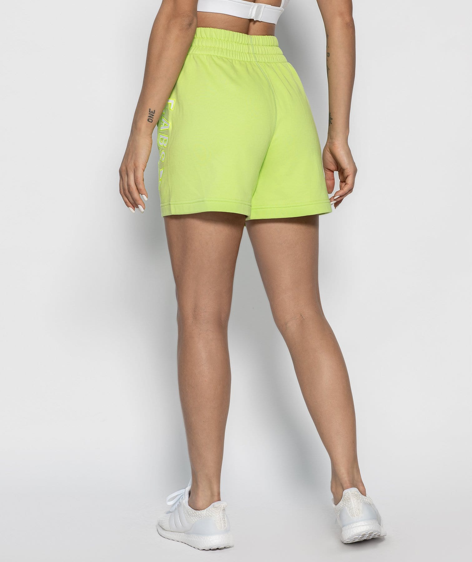 Drawcord Loose Shorts - Fluorescent green - Firm Abs Fitness