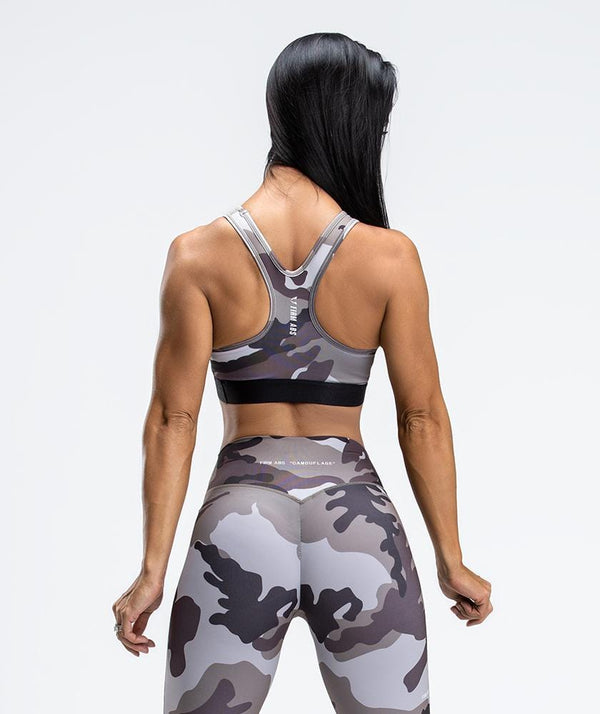 Camo Active Sport Bras - Firm Abs Fitness