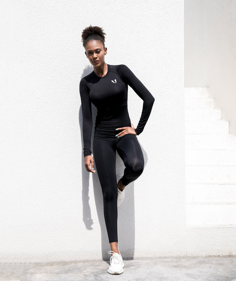 Firmabs Pure Long Sleeve Shirt - Black - Firm Abs Fitness