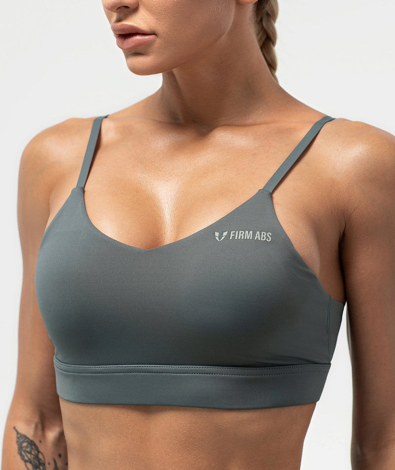 Flex Strappy Sports Bra - Dark Gray
