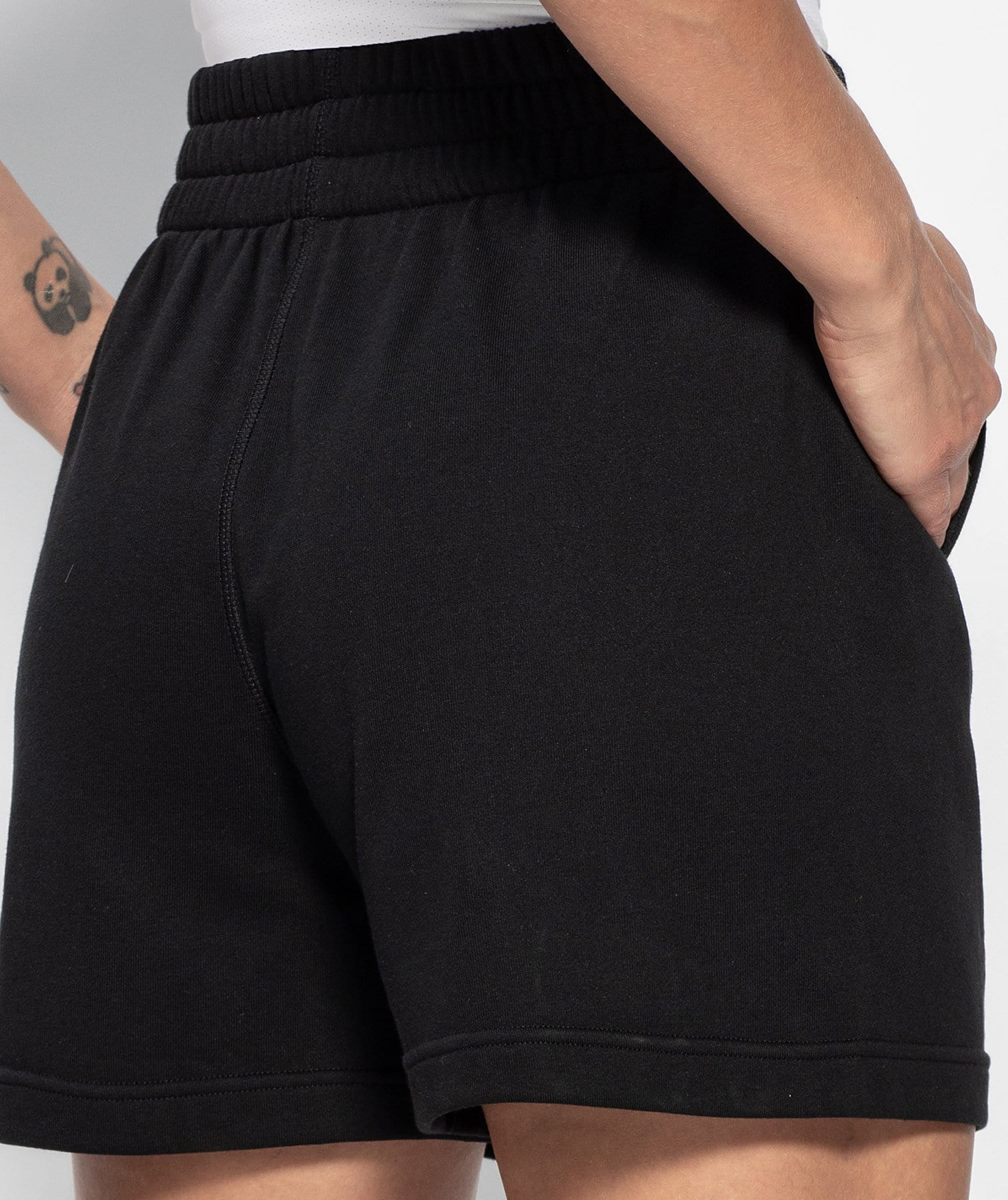 Drawcord Loose Shorts - Black - Firm Abs Fitness