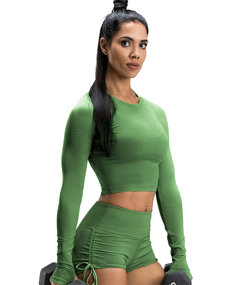 Lightweight Workout Cropped Top-Deliver to U.S. Only - Firm Abs Fitness