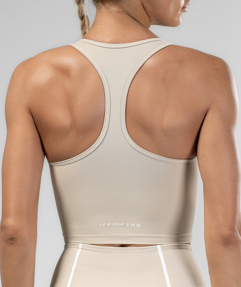 Shaping Tank Top - Off White - Firm Abs Fitness