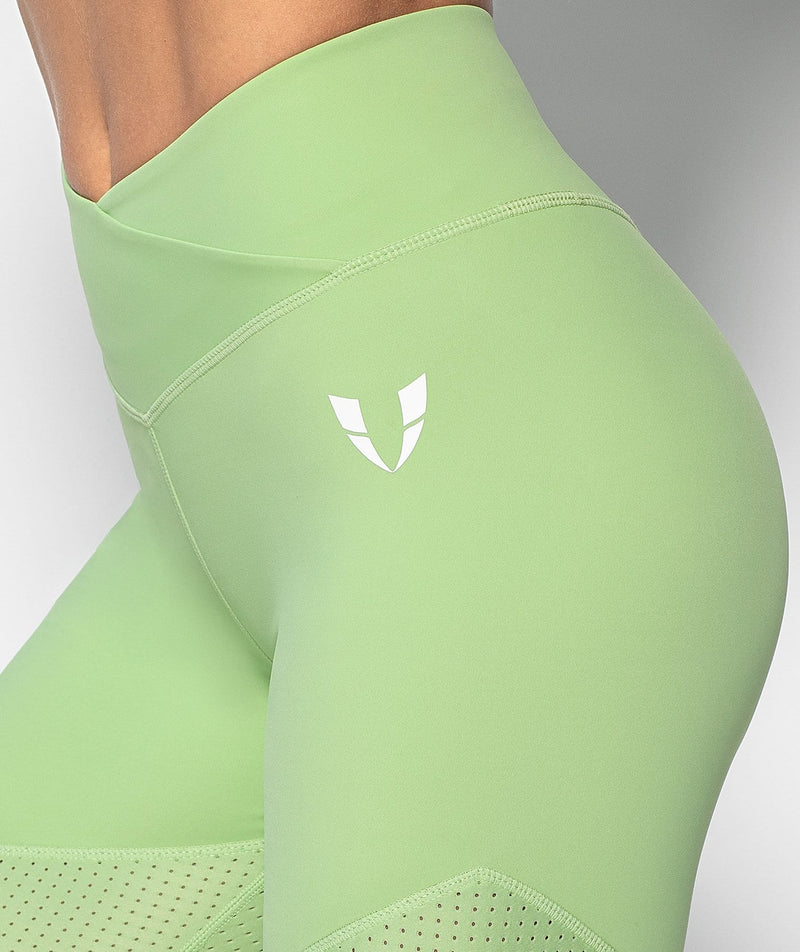 Mesh Power Leggings - Green - Firm Abs Fitness