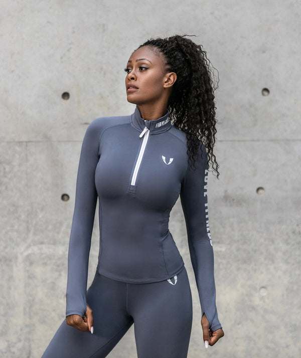Zip Long Sleeve - Firm Abs Fitness