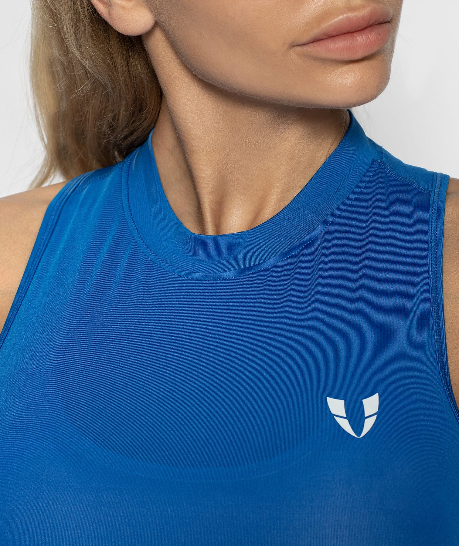 High Neck Vest - Blue - Firm Abs Fitness