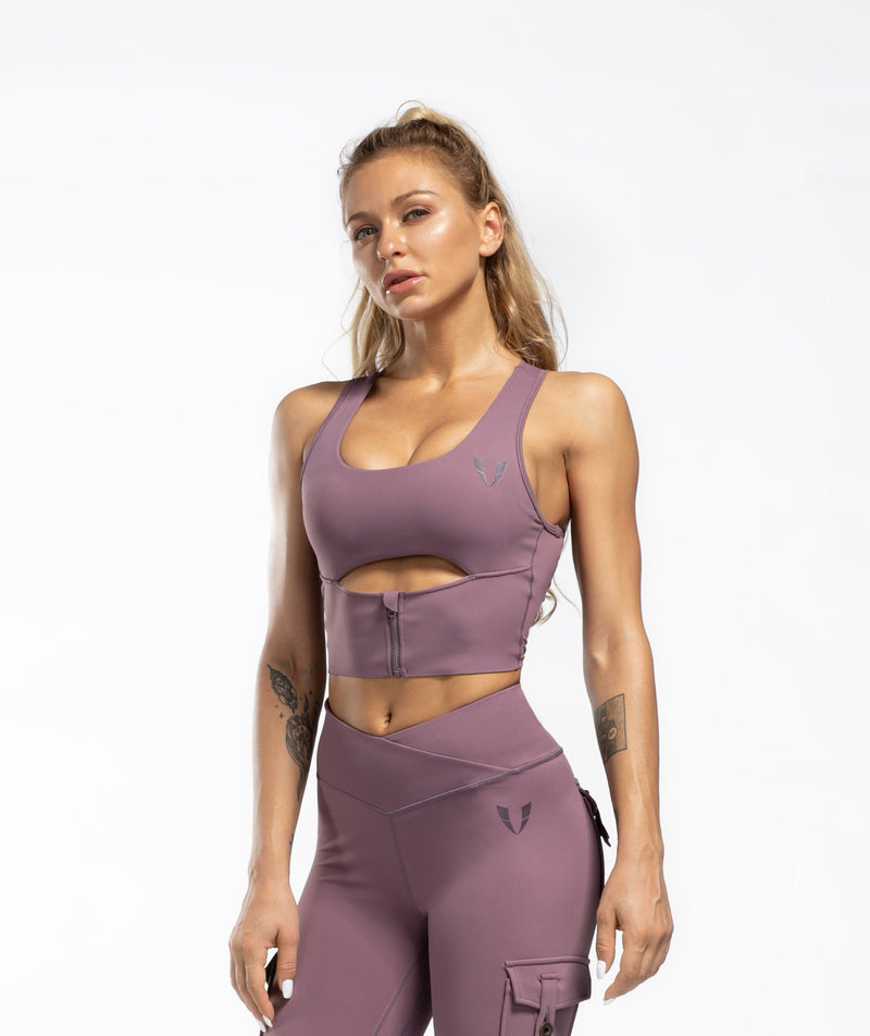 Scoop neck Sports Bra - Firm Abs Fitness