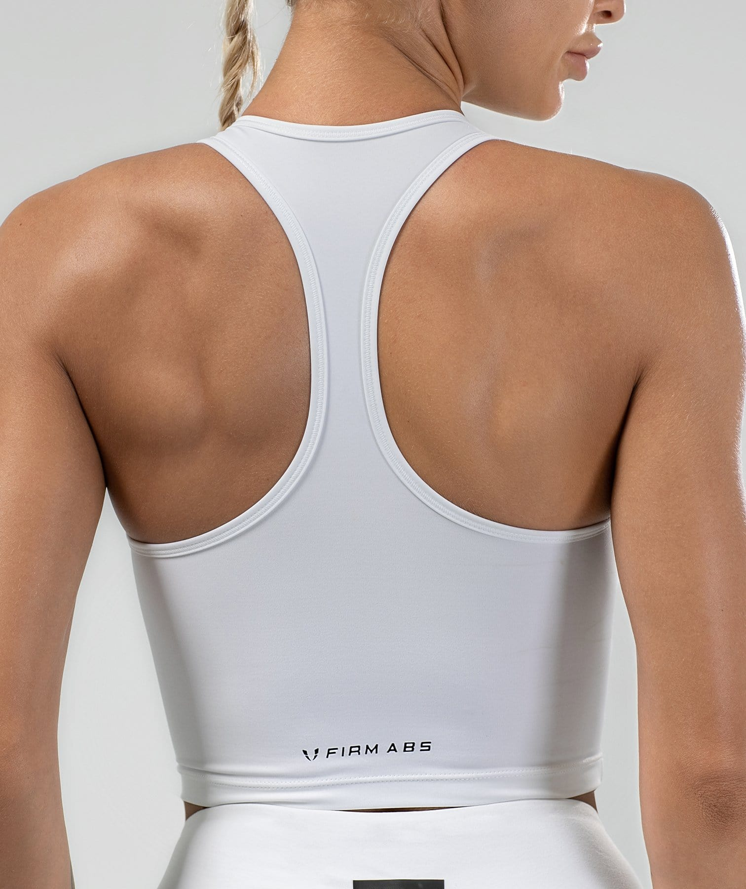 Shaping Tank Top - White - Firm Abs Fitness