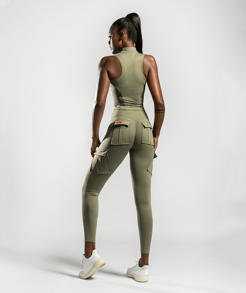 Army Abs Tank - Khaki - Firm Abs Fitness