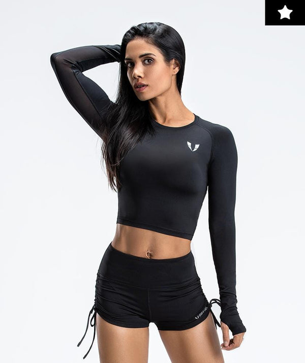 Lightweight Workout Cropped Tops - Firm Abs Fitness