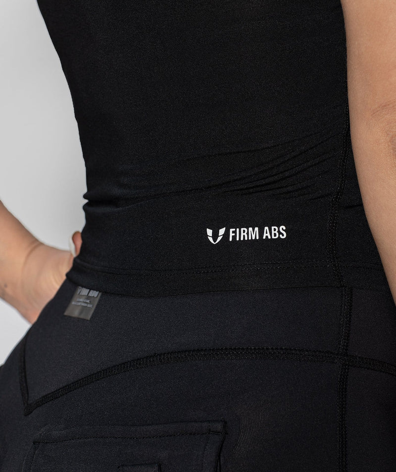 High Neck Vest - Black - Firm Abs Fitness