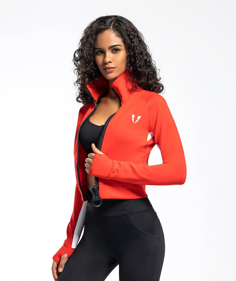 Vitality Jacket - Red - Firm Abs Fitness
