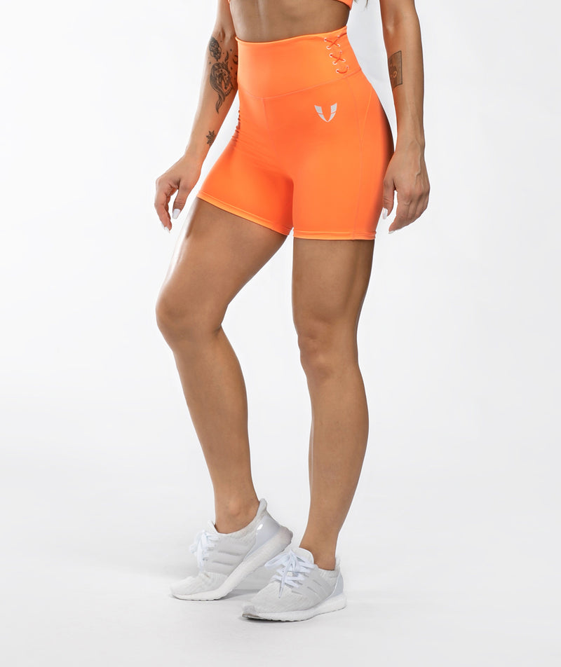 Honeypeach Sculpt Shorts - Orange - Firm Abs Fitness