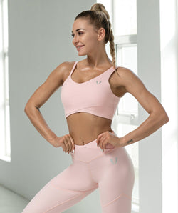 Sweet Sports Bra - Pink - Firm Abs Fitness
