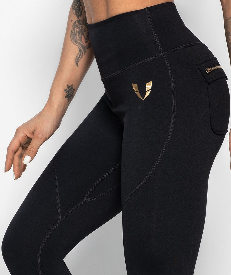 Athleisure Zip Leggings - Black - Firm Abs Fitness