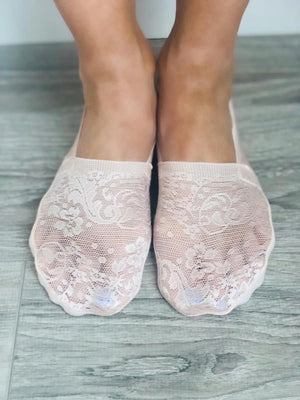 No-Show Lace Socks