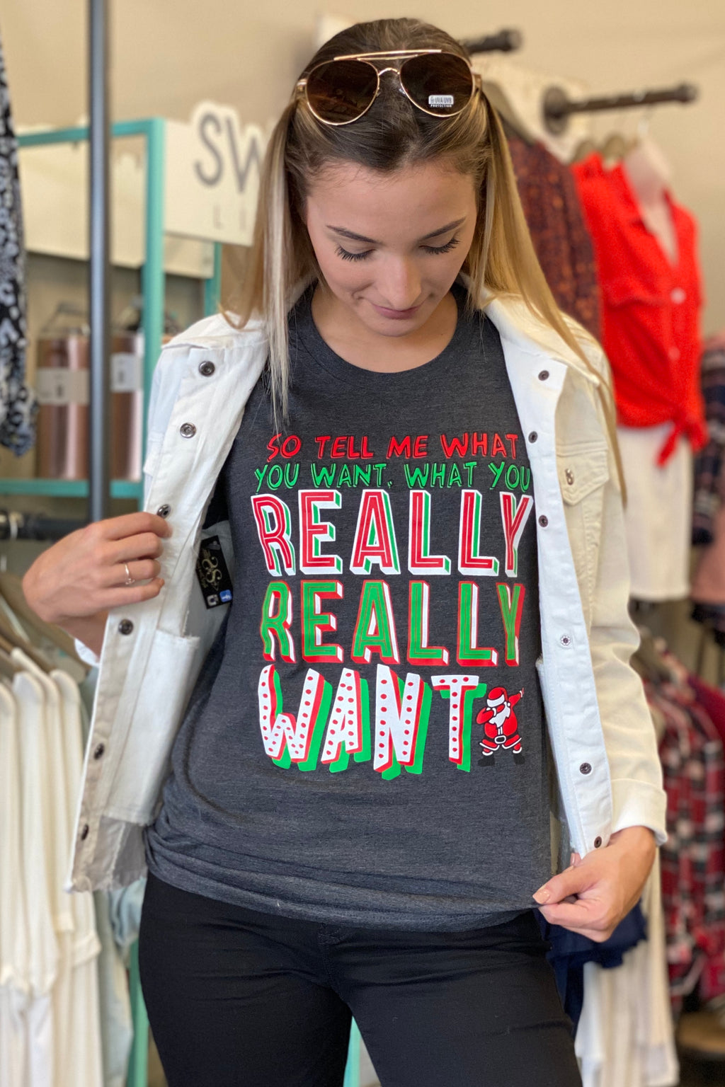 Tell Me What You Want Christmas Tee