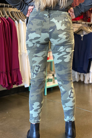 Elan Button Fly Camo Pants