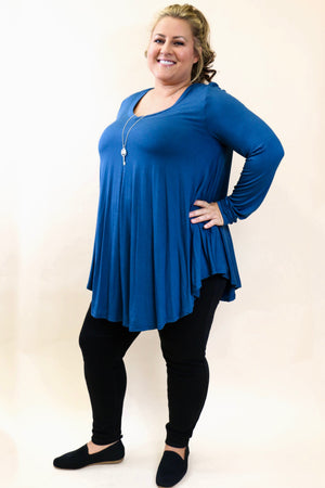 Curvy Long Sleeve Tunic
